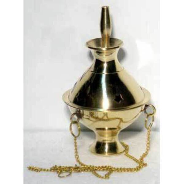 "Brass Hanging Incense Burner 5""-6"" High (IBHANS)"
