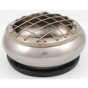 "Pewter Screen Charcoal Burner 3"" x 1"" (IBBIW)"