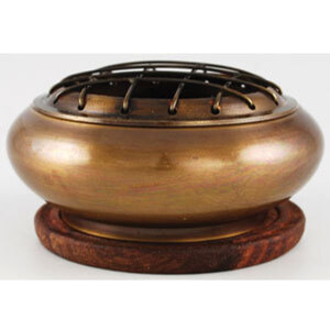"Brass Screen Incense Burner with Coaster 3"" x 1"" (IB703)"