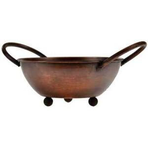 "Anitqued Copper Bowl Handle Incense Burner 5"" x 2.25"" (IBU5)"