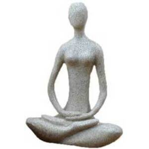 "Lotus Yoga Goddess - 8.7"" Tall Sandstone Statue (SY436)"