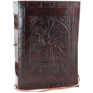 Tree of Life Leather Blank Book with Cord (BBBCT710)