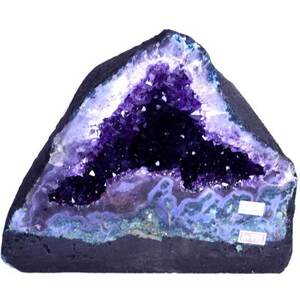 "Gigantic Amethyst Cathedral Geode - 22.9 Lbs. - Grade 10 Base Girth - 2' 6. Depth Mid-Section - 11.5"" Height - 8.5"" (GAMEC19)"