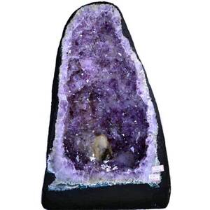 "Gigantic Amethyst Cathedral Geode - 36.3 Lbs. - Grade 4 Base Girth - 2' 7.5"". Depth Mid-Section - 9.5"" Height - 15"" (GAMEC12)"