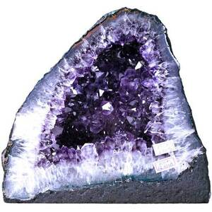 "Gigantic Amethyst Cathedral Geode - 12.4 Lbs. - Grade 10 Base Girth - 1' 11.75"". Depth Mid-Section - 7"" Height - 8.5"" (GAMEC32)"