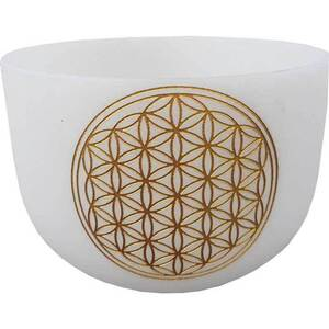 "18"" White Flower of Life Crystal Singing Bowl (FSB18WFOL)"