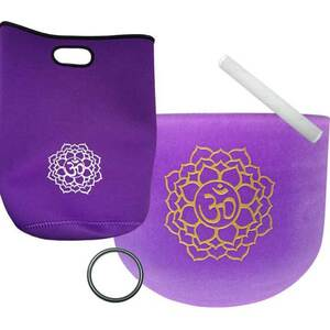 "8"" Purple Chakra Crystal Singing Bowl (FSB8PC)"