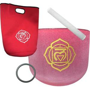 "8"" Red Chakra Crystal Singing Bowl (FSB8RC)"