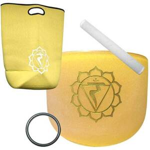 "8"" Yellow Chakra Crystal Singing Bowl (FSB8YC)"