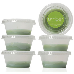 Austrian Green Wax Six 12 oz. Cups by Amber Products (AMB135)