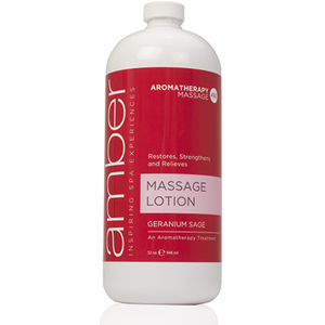 Geranium Massage Lotion 32 oz. by Amber Products (AMB529-GS)