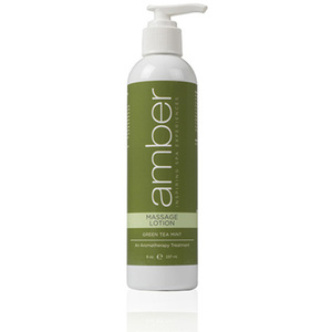 Green Tea Massage Lotion 8 oz. by Amber Products (AMB528-GT)