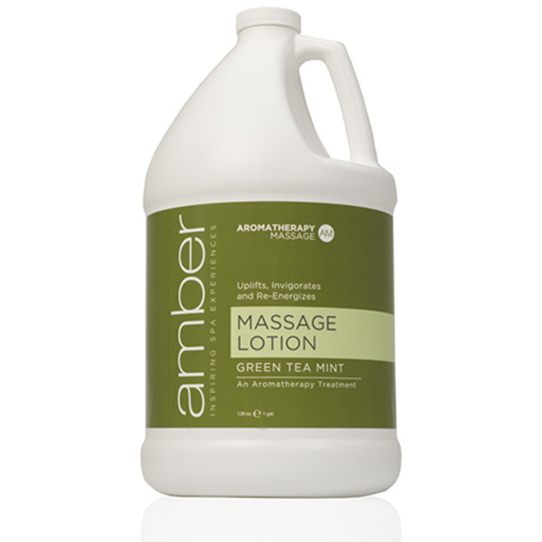Green Tea Massage Lotion 1 Gallon by Amber Products (AMB530-GT)