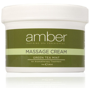 Green Tea Massage Cream 8 oz. by Amber Products (AMB531-GT)