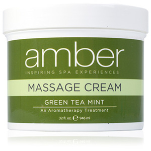 Green Tea Massage Cream 32 oz. by Amber Products (AMB532-GT)