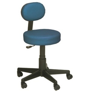 Blue Technicians Stool With Back by Mother Earth (P598B)