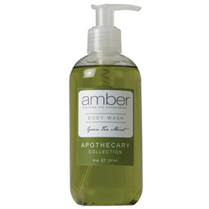 Green Tea Mint Body Wash 11 oz. by Amber Products (AMBR651-GT)