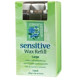 Sensitive Wax Refill Large 3 Pack by Clean & Easy (CE-41231)