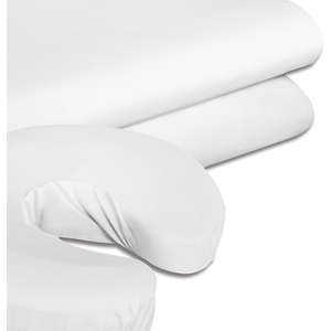 "White Terry Fitted Table Sheet 33"" x 73"" (SSSBL022)"
