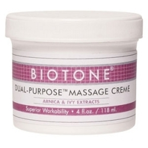 Dual Purpose Massage Crème 4 oz. by Biotone (BIDP4)