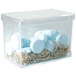 "Beauty Box with Lid 3"" X 4"" X 5"" Clear (BB345)"