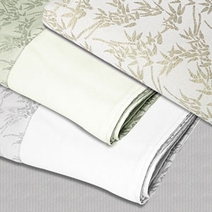 "Microfiber Blanket Cream-Bamboo Tea Green 58"" x 85"" by Simon West (MICBG)"