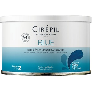Blue Stripless Wax Tin 400 Grams by Cirepil (C-0500)