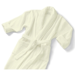 Velour Shawl Collar Robe Ecru by Boca Terry (SSSW060)