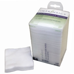 "4"" X 4"" Dispenser Wipe / 100 per Pack / Case of 20 Packs by Intrinsics (INT407401)"