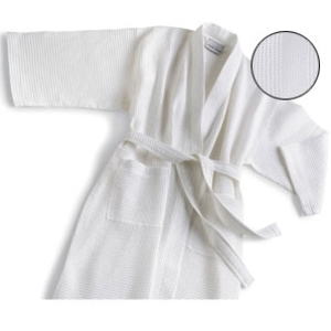 Multi Waffle Bathrobe White by Boca Terry (SSSW058)