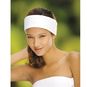 Waffle Headband White / 3 Pack by Boca Terry (SSSW077)