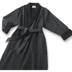 Microfiber Robe Black by Boca Terry (SSSW056)