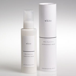 White Hand & Foot Cream White Tea & Lotus 4 oz. by Amber Products (AMBR667W)