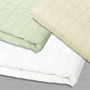 "Cream Quilted Blanket 58"" x 85"" by Simon West (MICCRQT)"