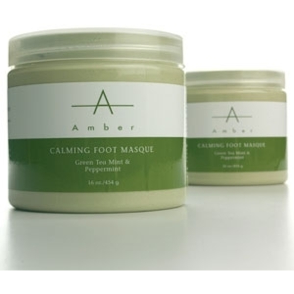 Green Tea MintPeppermint Calming Foot Masque 64 oz. by Amber Products (AP129)