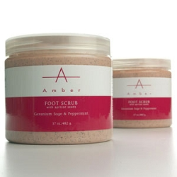 Geranium Sage & Peppermint Foot Scrub 64 oz. by Amber Products (AP121)