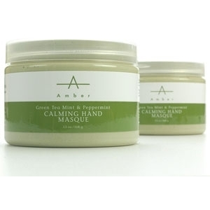 Green Tea Peppermint Calming Hand Masque 13 oz. by Amber Products (AP108)