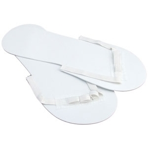 Scampers Disposable Pedicure Slippers White 50 Pack by Scampers (50290)