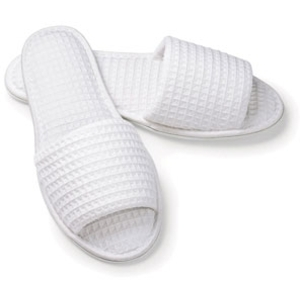 White Waffle Slippers Mens by Boca Terry (SSSW040)