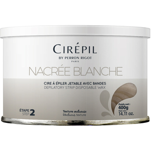 Nacree Blanche Strip Wax Tin 400 Grams by Cirepil (C-2000)