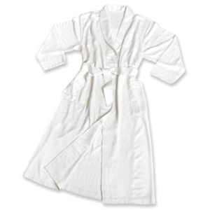 White MicroBamboo Robe by Simon West (MIC-24)