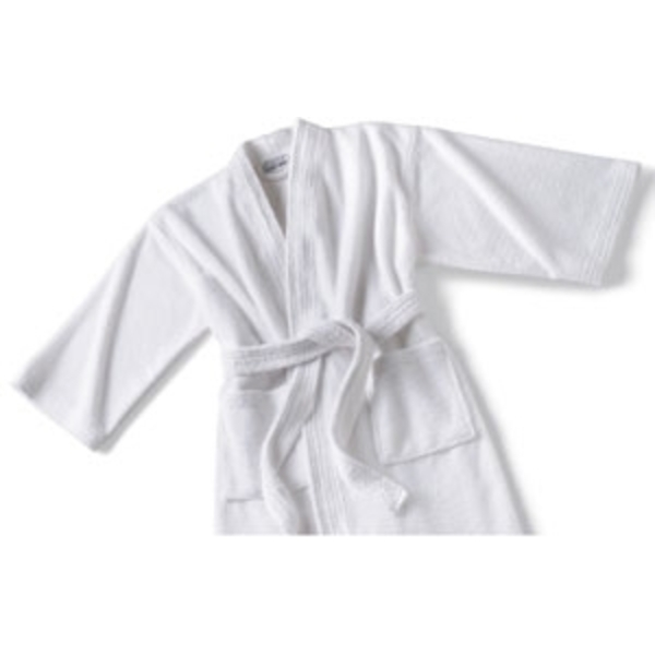 Micro Terry Kimono Robe White by Boca Terry (SSSW048)
