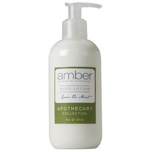 Green Tea Mint Body Lotion 8 oz. Case of 6 by Amber Products (AMBR654-GT)