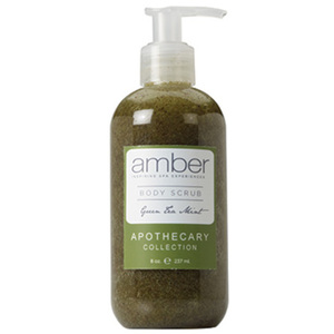 Green Tea Mint Body Scrub 11 oz. Case of 6 by Amber Products (AMBR652-GT)