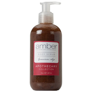 Geranium Sage Body Scrub 11 oz. Case of 6 by Amber Products (AMBR652-GS)