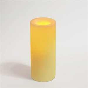 "Flameless Wax Candle 8"" x 3.25"" Round Unscented Champagne Color (CI45808-CH)"