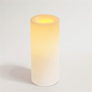 "Flameless Wax Candle 8"" x 3.25"" Round Unscented White Color (CI45808-WH)"