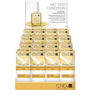 Solar Oil 0.5 oz. 16 Pack Display by CND (CN13220)