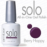 Solo All-in-One Gel Polish - No Base or Top Coat Needed - LED or UV Cured - 0.5 oz. Berry Happy (S500)
