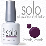 Solo All-in-One Gel Polish - No Base or Top Coat Needed - LED or UV Cured - 0.5 oz. Syrah Syrah (S508)